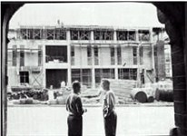 View of New Headquarters Being Built From the Old Fire Station