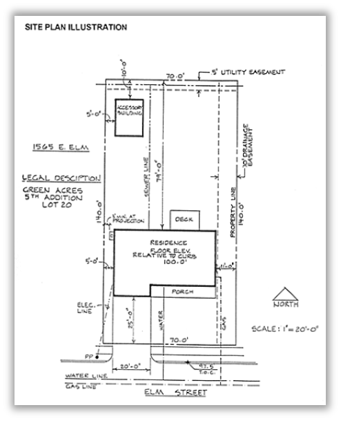 Example of a general site/floor plan